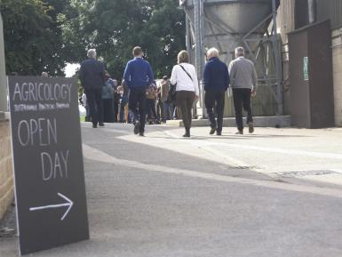 People arriving for Agricology Open Day