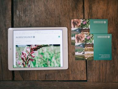tablet and postcard